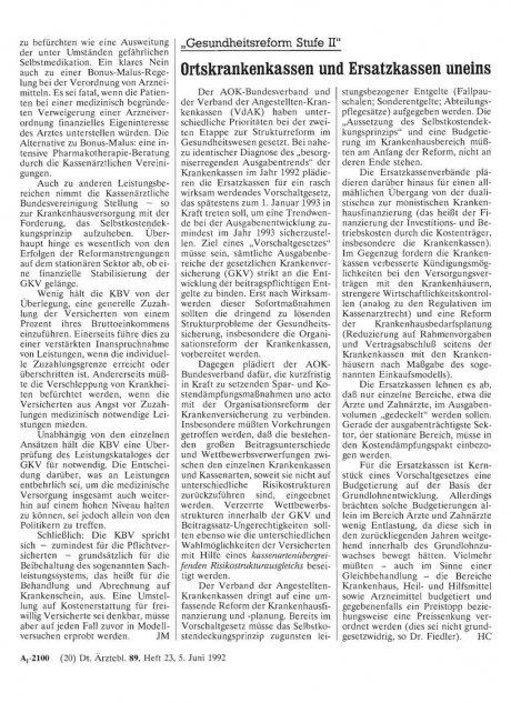 """""""Gesundheitsreform Stufe II"""""""