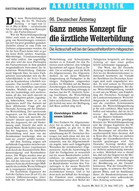 95. Deutscher Ärztetag