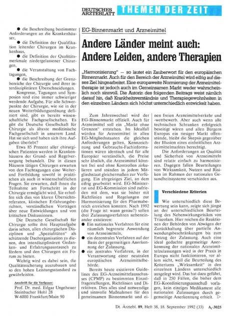 EG-Binnenmarkt und Arzneimittel Andere Länder...