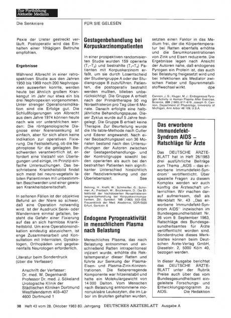 Gestagenbehandlung bei Korpuskarzinompatienten