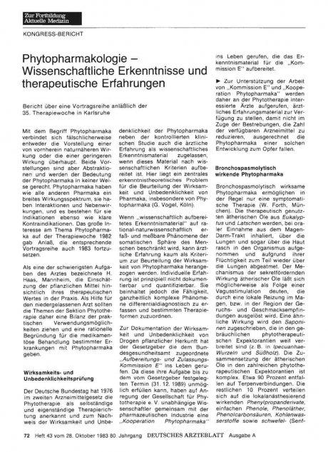 Phytopharmakologie - Wissenschaftliche...