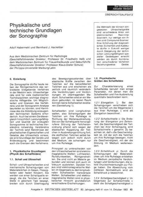 Physikalische und technische Grundlagen der...