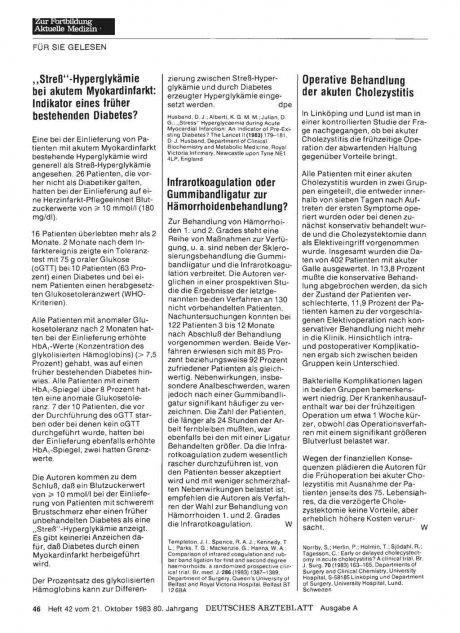 Infrarotkoagulation oder Gummibandligatur zur...