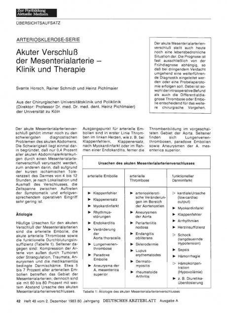 ARTERIOSKLEROSE-SERIE