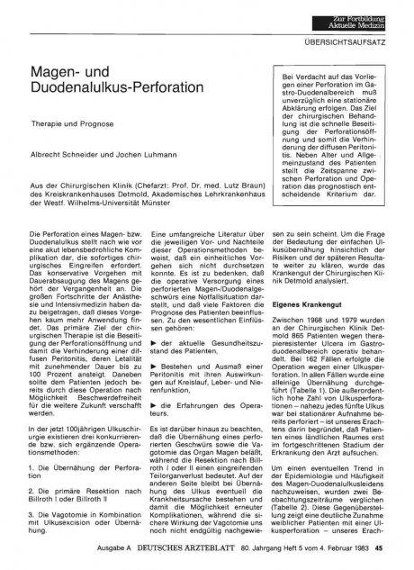 Magen- und Duodenalulkus-Perforation