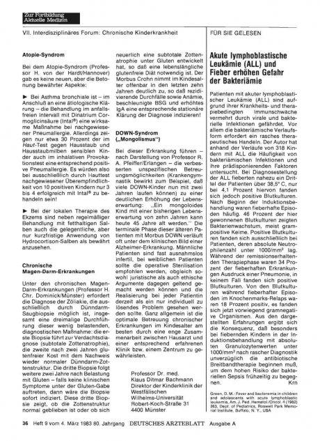 Akute lymphoblastische Leukämie (ALL) und Fieber...