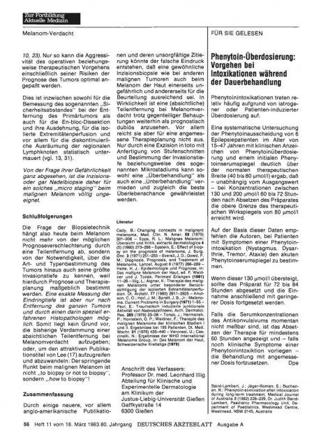 Phenytoin-Überdosierung