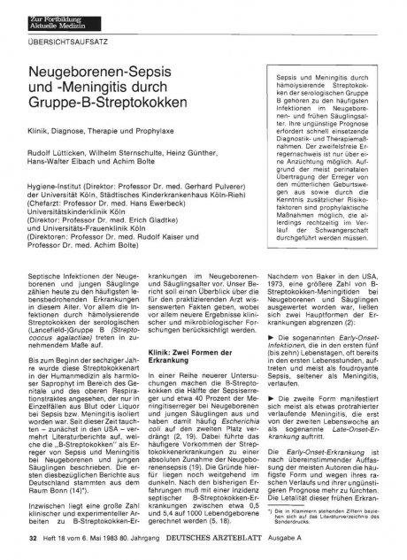 Neugeborenen-Sepsis und -Meningitis durch...
