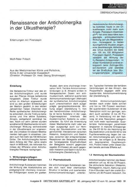 Renaissance der Anticholinergika in der...