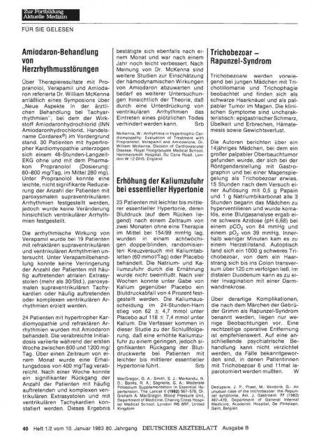 Trichobezoar — Rapunzel-Syndrom