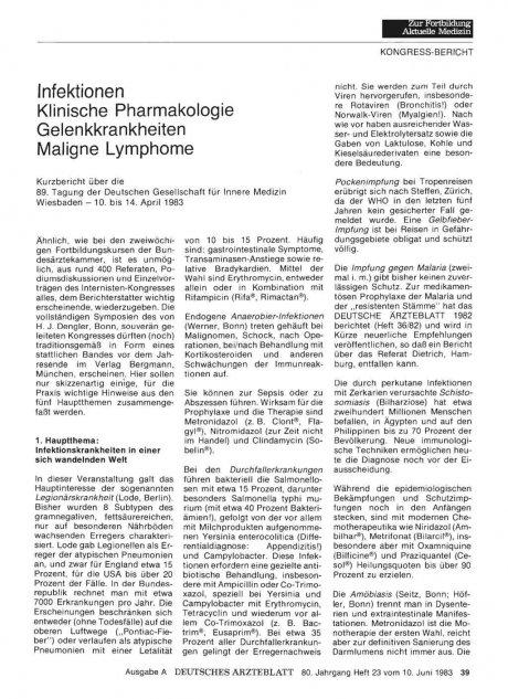 Infektionen Klinische Pharmakologie...