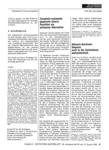 Adenom-Karzinom- Sequenz auch in der Gallenblase...