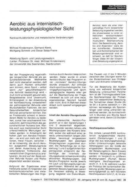 Aerobic aus internistischleistungsphysiologischer...