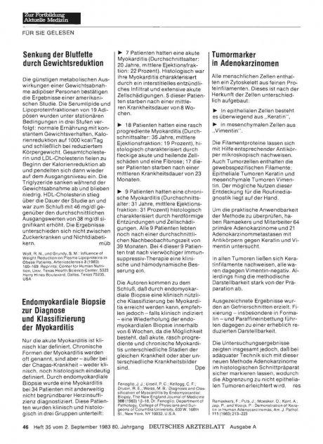 Endomyokardiale Biopsie zur Diagnose und...