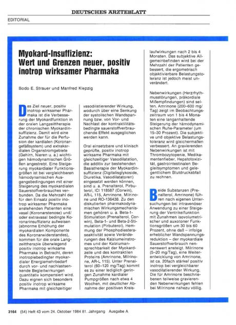 Myokard-Insuffizienz