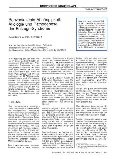 Benzodiazepin-Abhängigkeit