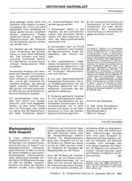 Migräneprophylaxe durch Verapamil