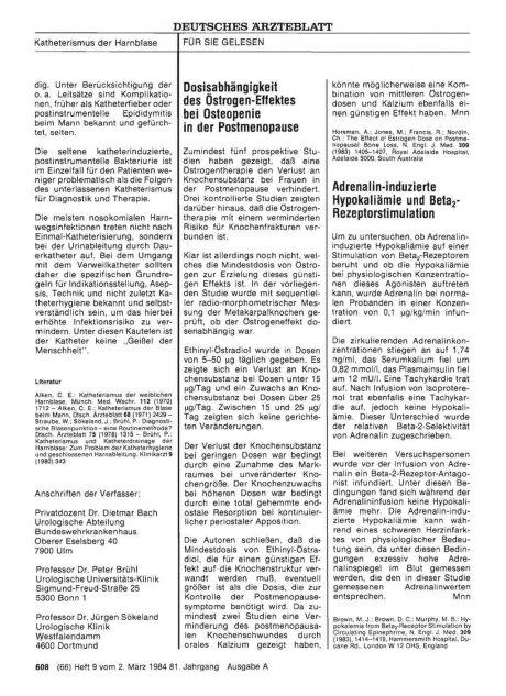 Adrenalin-induzierte Hypokaliämie und Beta2-...