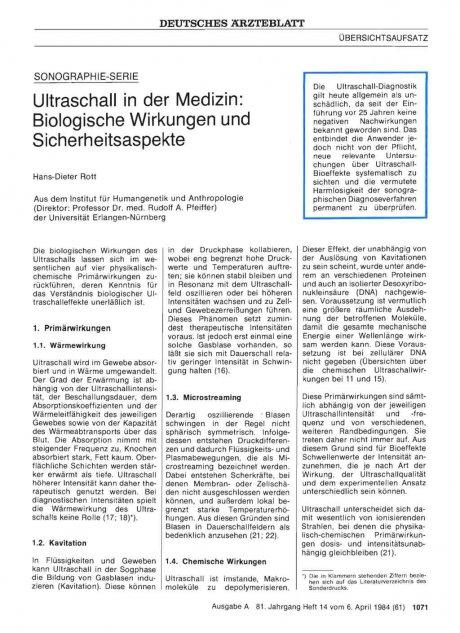 Ultraschall in der Medizin
