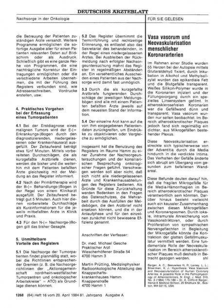Vasa vasorum und Neovaskularisation menschlicher...