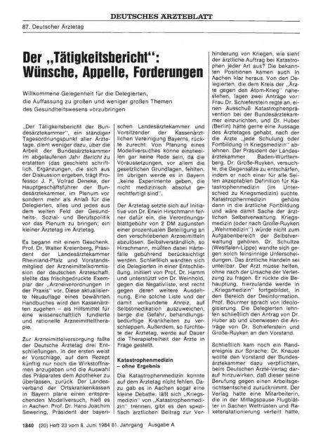 """Der """"Tätigkeitsbericht"""""""