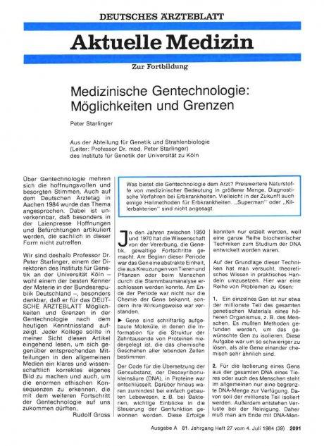 Medizinische Gentechnologie