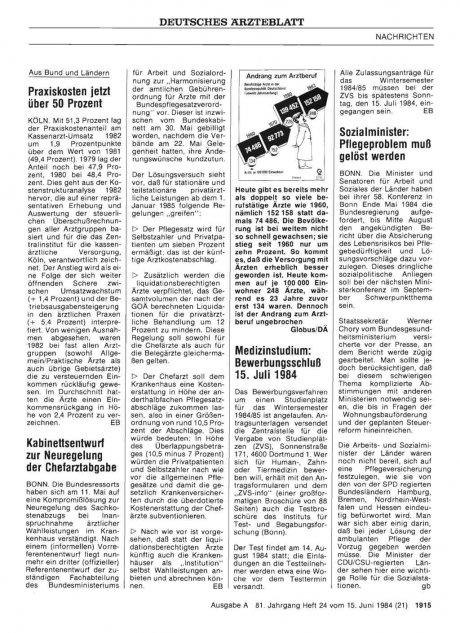 Kabinettsentwurf zur Neuregelung der...