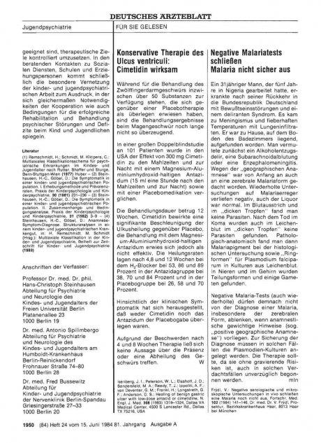 Konservative Therapie des Ulcus ventriculi