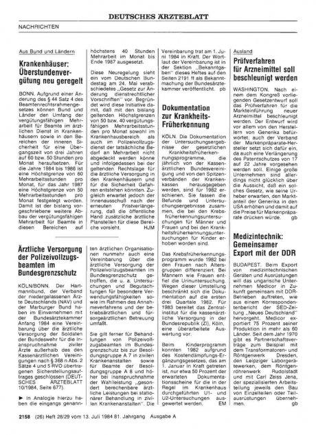 Medizintechnik: Gemeinsamer Export mit der DDR