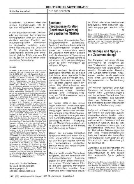 Spontane Ösophagusperforation (Boerhaave-Syndrom)...