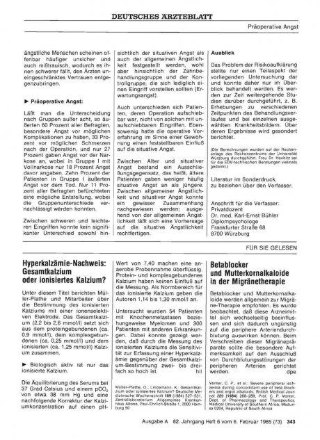Hyperkalzämie-Nachweis