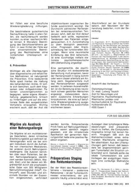 Präoperatives Staging des Rektumkarzinoms