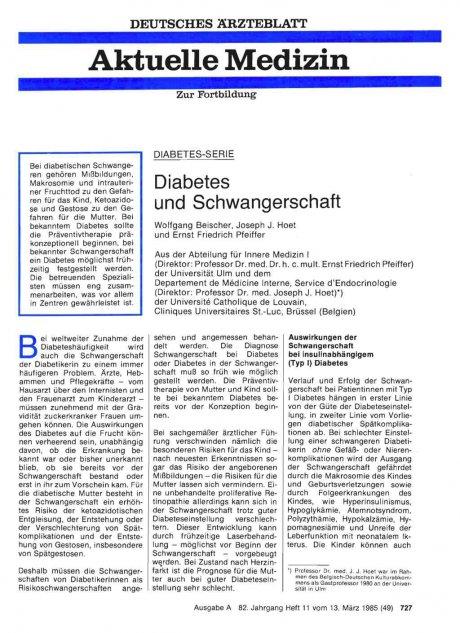 DIABETES-SERIE: Diabetes und Schwangerschaft