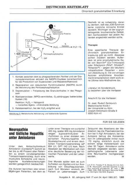 Neuropathie und tödliche Hepatitis unter Amiodaron