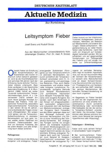 Leitsymptom Fieber