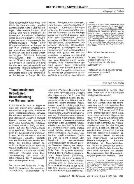 Therapieresistente Hypertonien