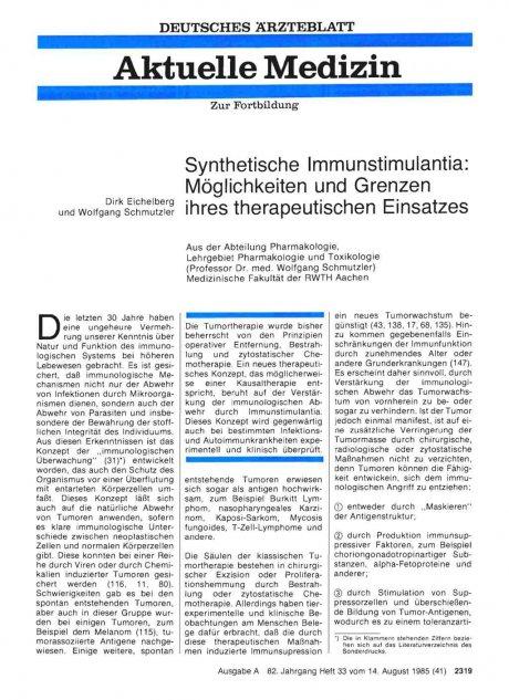 Synthetische Immunstimulantia