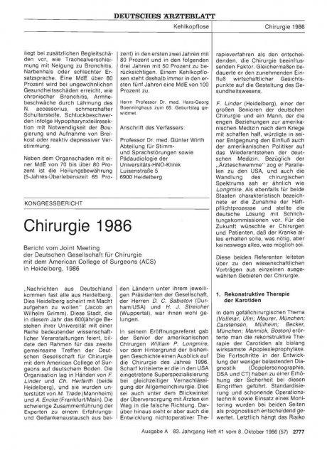 Chirurgie 1986