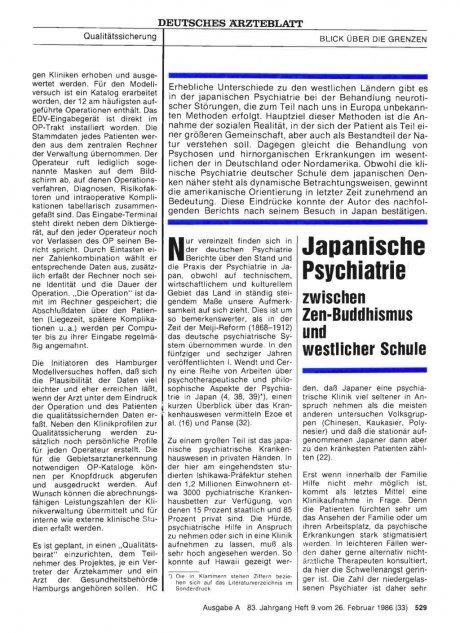 Japanische Psychiatrie zwischen Zen-Buddhismus und...