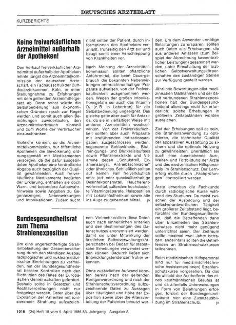 Bundesgesundheitsrat zum Thema Strahlenexposition