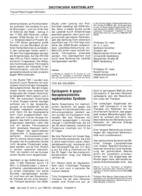 Cyclosporin A gegen therapieresistentes...