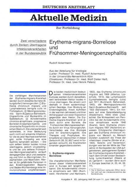 Erythema-migrans-Borreliose und...