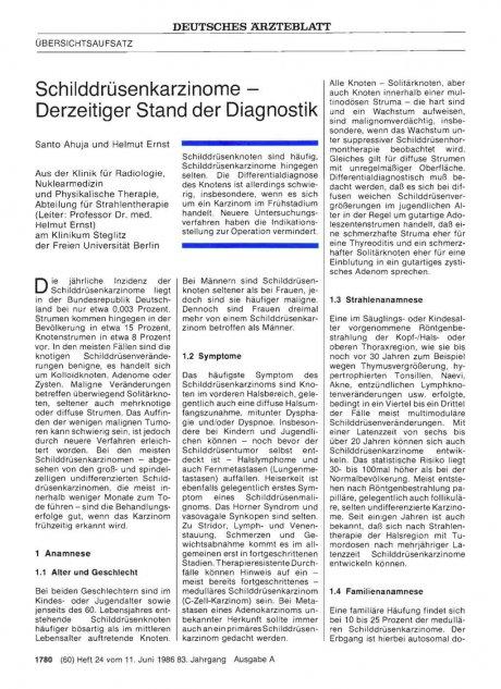 Schilddrüsenkarzinome — Derzeitiger Stand der...
