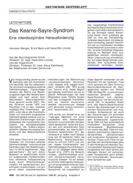 Das Kearns-Sayre-Syndrom