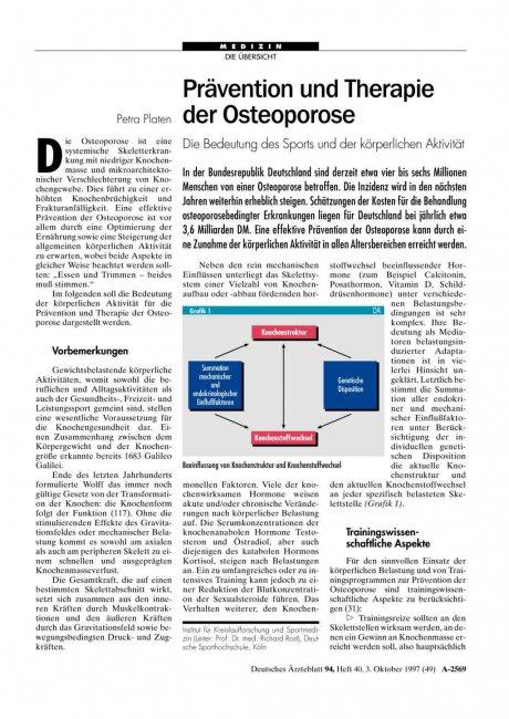 Prävention und Therapie der Osteoporose