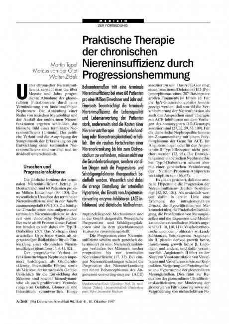 Praktische Therapie der chronischen...