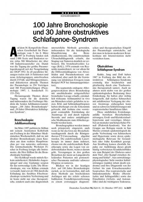 100 Jahre Bronchoskopie und 30 Jahre obstruktives...