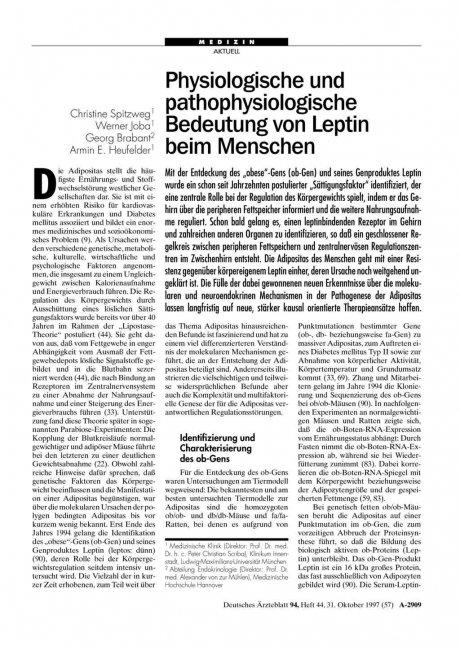 Physiologische und pathophysiologische Bedeutung...