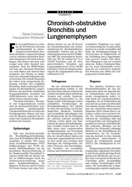 Chronisch-obstruktive Bronchitis und...