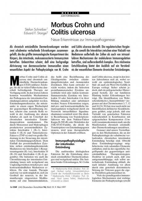 Morbus Crohn und Colitis ulcerosa